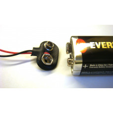 9V battery with clip